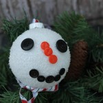 Craft: Frosted Snowman Ornament