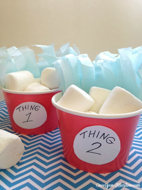 Thing 1 and Thing 2 Snack Cups - Celebrate Dr. Seuss's Birthday