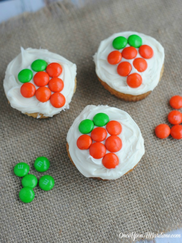 Spring Party-Friendly Carrot M&M Cupcakes Recipe
