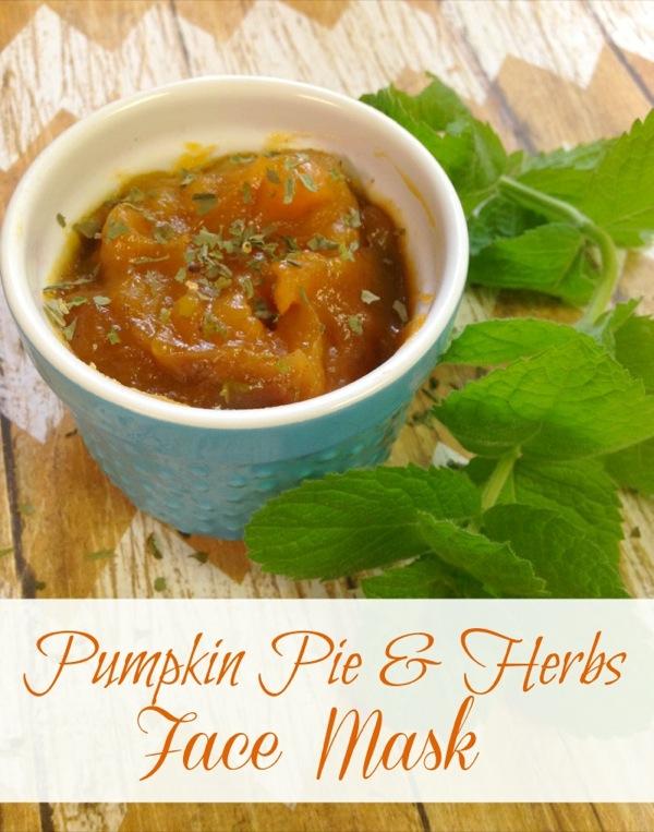 DIY Fall Facial: Pumpkin Pie & Herb Face Mask
