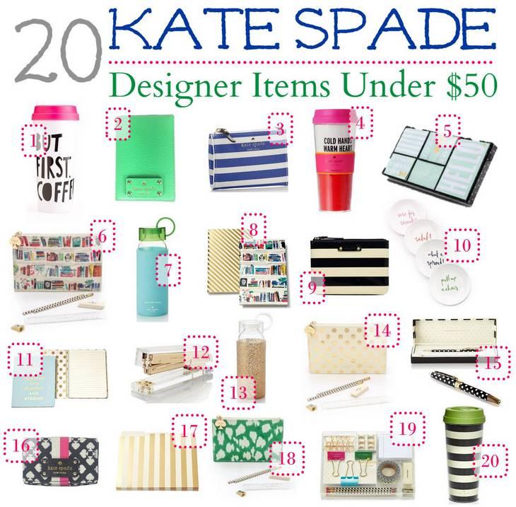 Affordable High End Fashion Finds: 20 Kate Spade Designer Items Under $50