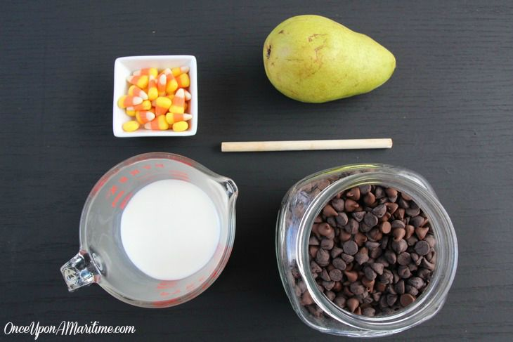 Candy Corn Chocolate Pear - Fall Treats Perfect for Halloween Supplies